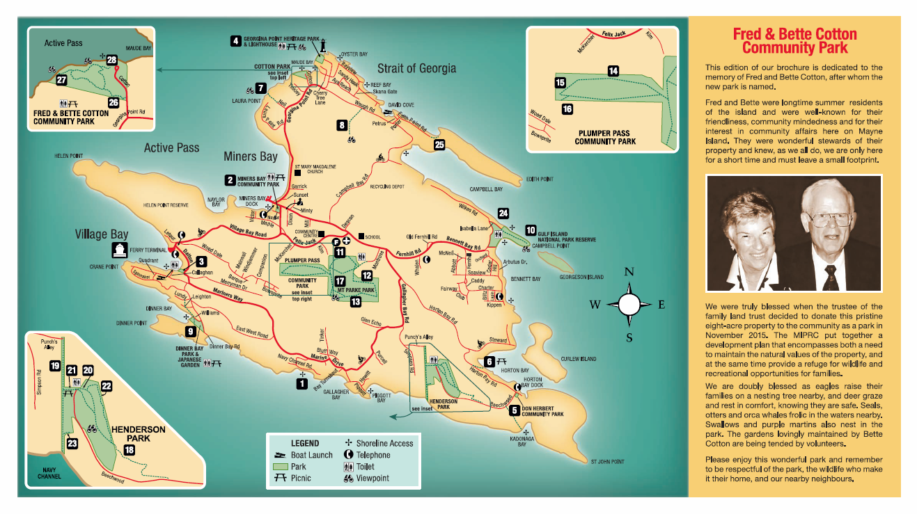 MI Hiking and Walking Map - Mayne Island Chamber of Commerce on